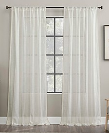 """Embroidered Border 50"""" x 63"""" Sheer Curtain Panel"""