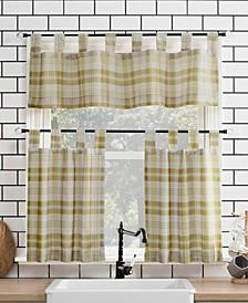 """Blair Farmhouse Plaid 52"""" x 24"""" Semi-Sheer Kitchen Curtain Set"""