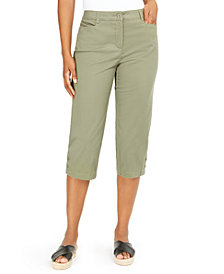 Karen Scott Button-Trim Cropped Pants, Created for Macy's