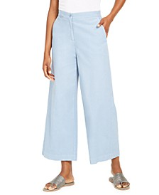 Organic Wide-Leg Ankle Pants