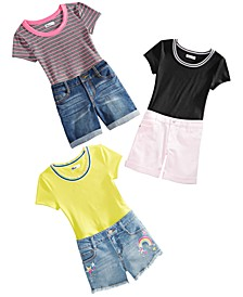 Big Girls Bodysuits & Denim Shorts, Created For Macy's