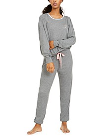 Printed Thermal Knit Pajamas Set, Created for Macy's