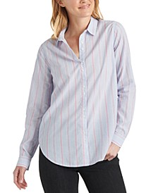 Classic-Stripe Button-Up Shirt