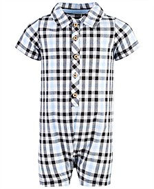 Baby Boys Cotton Plaid Romper, Created for Macy's