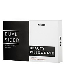 NIGHT Dual Sided Silk + Rayon from Bamboo Standard Pillowcase