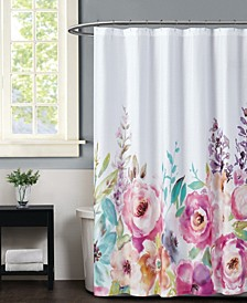 Christian Siriano Spring Flowers Shower Curtain