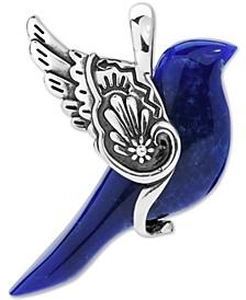 Sodalite Bird Pendant in Sterling Silver