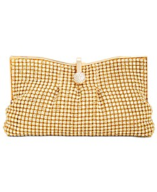 INC Crystal Mesh Pouch Clutch, Created for Macy's