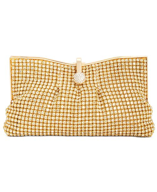 INC International Concepts INC Crystal Mesh Pouch Clutch, Created For Macy's