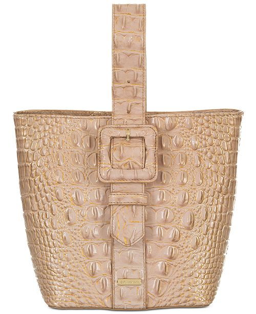 Brahmin Melbourne Embossed Leather Luxe Faith Bucket Bag