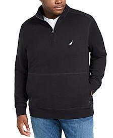 Men's Big & Tall Classic-Fit 1/4-Zip Fleece Sweatshirt