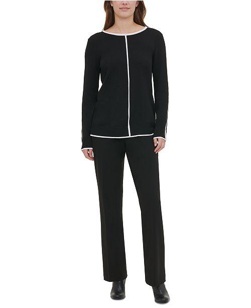 Calvin Klein Contrast-Trim Sweater