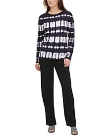 Tie-Dye Cotton Sweater