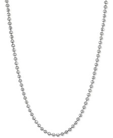 """Bead Link 18"""" Chain Necklace in Sterling Silver"""