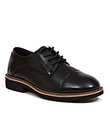 Little Boys and Big Boys Devers Classic Dress Comfort Cap Toe Perforated Oxford
