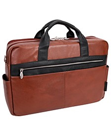 "Southport 17"" Dual-Compartment Laptop Tablet Briefcase"