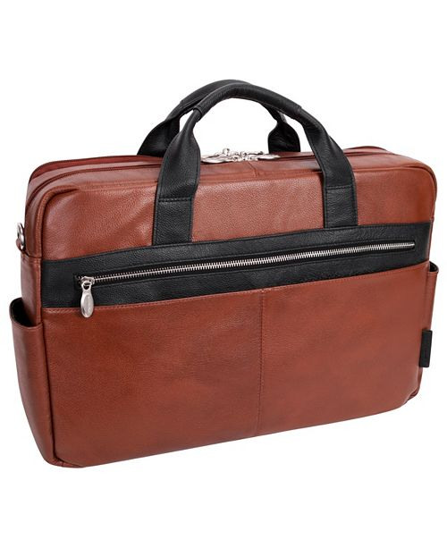 "McKlein Southport 17"" Dual-Compartment Laptop Tablet Briefcase"