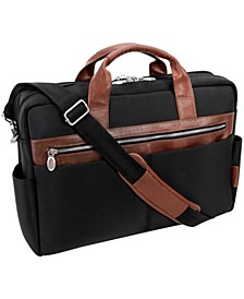 "Southport 17"" Nylon Dual-Compartment Laptop Tablet Briefcase"