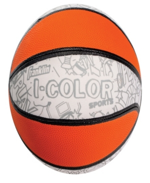 Franklin Sports I - Color Mini Basketball With 10 Marking Pens