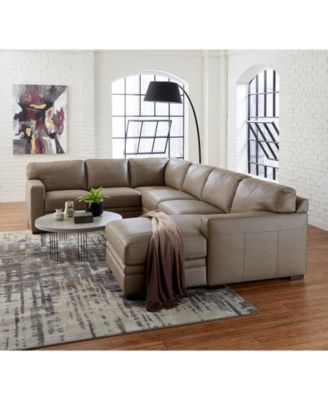 Avenell Leather Ottoman, Created for Macy's