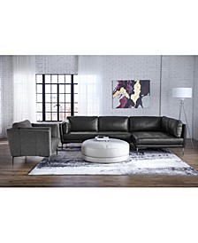 Koah Fabric and Leather Sectional Sofa Collection, Created for Macy's