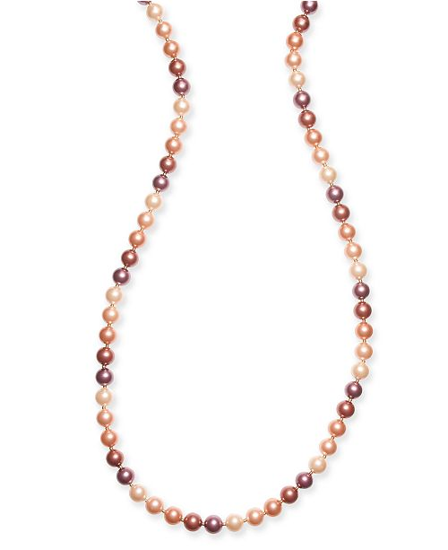 "Charter Club Gold-Tone Imitation Pearl 60"" Strand Necklace, Created for Macy's"