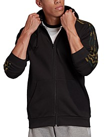 adidas Men's Originals Camo 3 Stripes Zip Hoodie