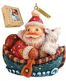 Boater Santa Ornament