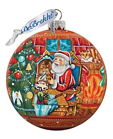 Nativity Workshop Ball Glass Ornament