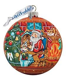 Nativity Workshop Ball Glass Ornament