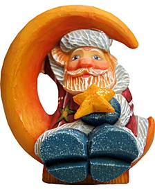Santa On Moon Ornament