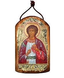 Saint Stephen Wooden Greek Christian Orthodox Icon Ornament
