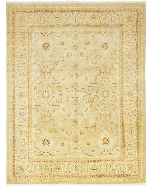 """Timeless Rug Designs CLOSEOUT! One of a Kind OOAK80 Beige 9'3"""" x 11'10"""" Area Rug"""