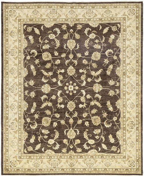 """Timeless Rug Designs CLOSEOUT! One of a Kind OOAK110 Brown 8'3"""" x 9'10"""" Area Rug"""