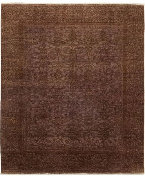 "Timeless Rug Designs One of a Kind OOAK121 Cocoa 8' x 9'5"" Area Rug"