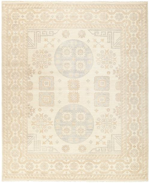 "Timeless Rug Designs CLOSEOUT! One of a Kind OOAK422 Ivory 8'2"" x 9'10"" Area Rug"