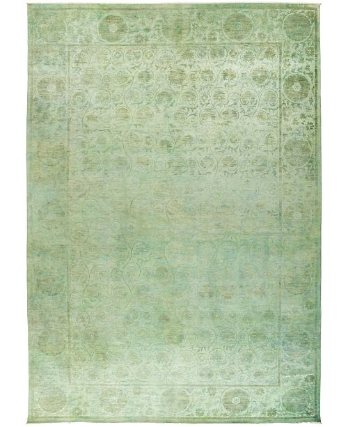 """Timeless Rug Designs CLOSEOUT! One of a Kind OOAK442 Lime 12'1"""" x 17'8"""" Area Rug"""