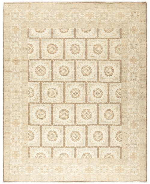 "Timeless Rug Designs CLOSEOUT! One of a Kind OOAK671 Mocha 7'10"" x 9'10"" Area Rug"