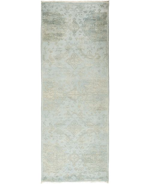 """Timeless Rug Designs CLOSEOUT! One of a Kind OOAK836 Neutral 3' x 8'2"""" Runner Rug"""