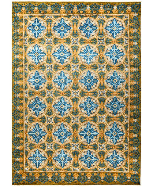 """Timeless Rug Designs CLOSEOUT! One of a Kind OOAK1244 Orange 10'1"""" x 14'3"""" Area Rug"""