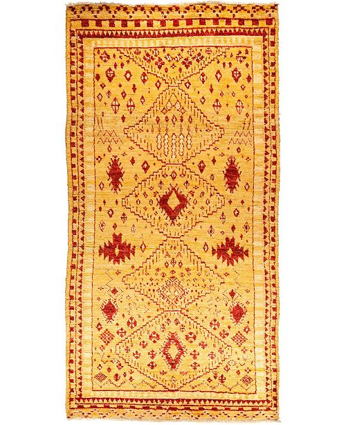 "Timeless Rug Designs CLOSEOUT! One of a Kind OOAK1409 Yellow 6' x 12'1"" Area Rug"