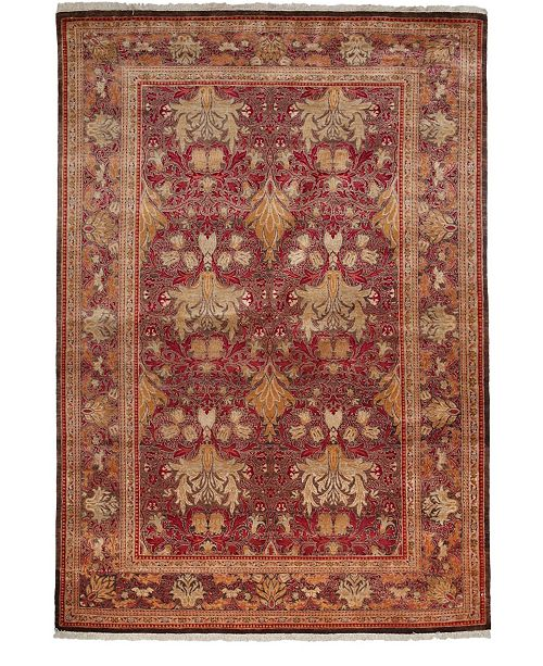 "Timeless Rug Designs CLOSEOUT! One of a Kind OOAK3937 Cherry 6' x 8'9"" Area Rug"