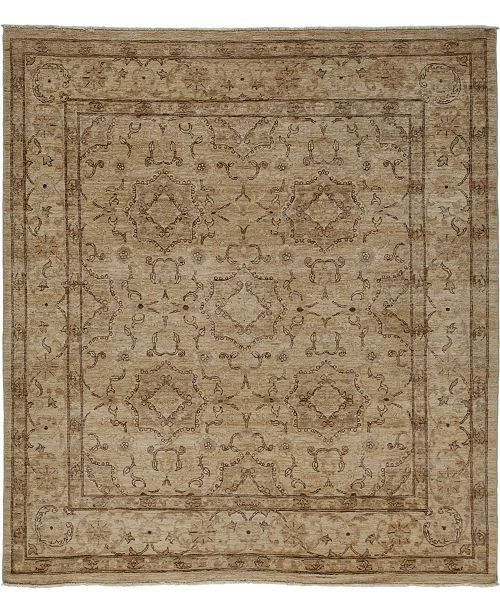 "Timeless Rug Designs One of a Kind OOAK3655 Hazelnut 6'3"" x 6'10"" Area Rug"