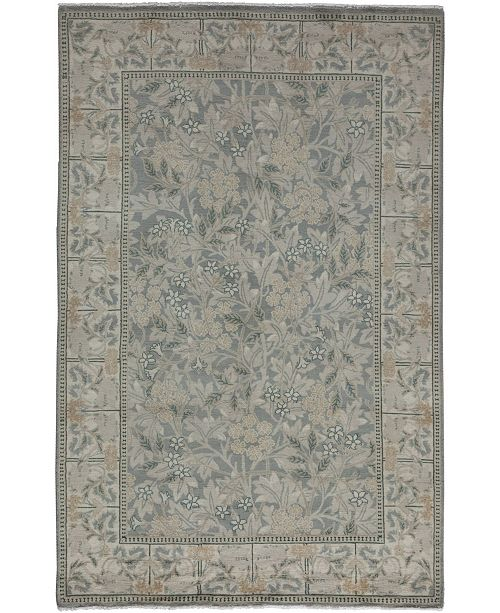 """Timeless Rug Designs CLOSEOUT! One of a Kind OOAK3480 Silver 4'7"""" x 7'1"""" Area Rug"""