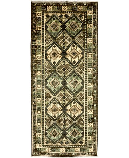 """Timeless Rug Designs CLOSEOUT! One of a Kind OOAK3352 Sage 4'1"""" x 9'7"""" Runner Rug"""