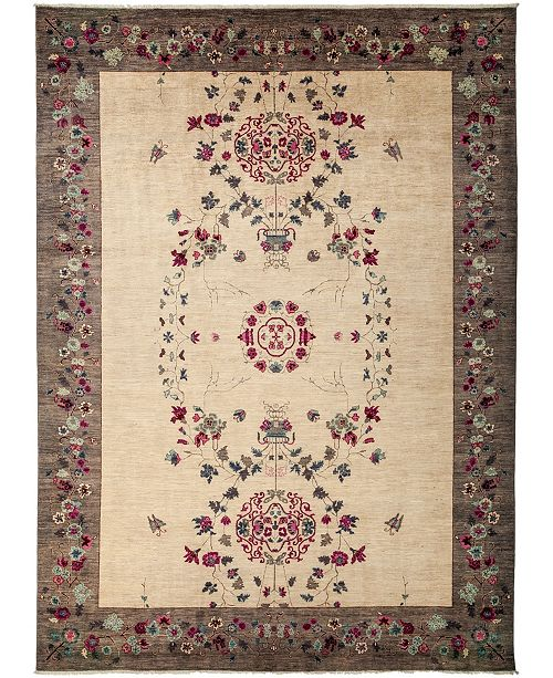 """Timeless Rug Designs CLOSEOUT! One of a Kind OOAK3148 Cream 9'10"""" x 13'8"""" Area Rug"""