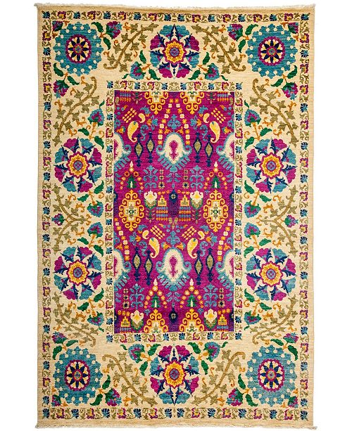 "Timeless Rug Designs CLOSEOUT! One of a Kind OOAK3214 Cream 6'2"" x 9'1"" Area Rug"