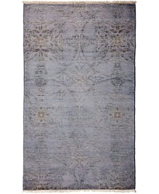 "CLOSEOUT! One of a Kind OOAK18 Lavender 3'2"" x 5'1"" Area Rug"