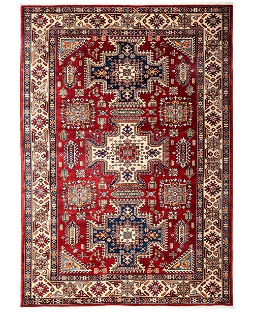"""Timeless Rug Designs CLOSEOUT! One of a Kind OOAK3133 Red 5'4"""" x 7'4"""" Area Rug"""