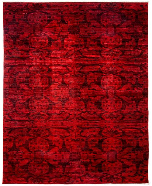 """Timeless Rug Designs CLOSEOUT! One of a Kind OOAK3052 Red 8"""" x 9'9"""" Area Rug"""